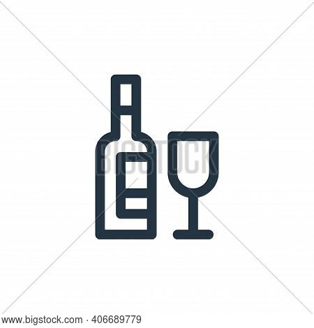 wine icon isolated on white background from europe collection. wine icon thin line outline linear wi