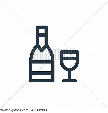 wine icon isolated on white background from gastronomy collection. wine icon thin line outline linea
