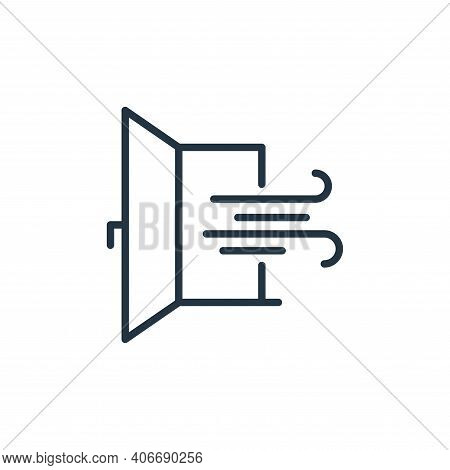 window icon isolated on white background from stop virus collection. window icon thin line outline l