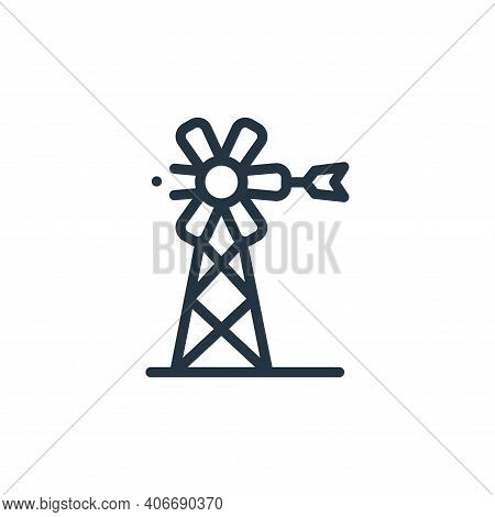 windmill icon isolated on white background from in the village collection. windmill icon thin line o