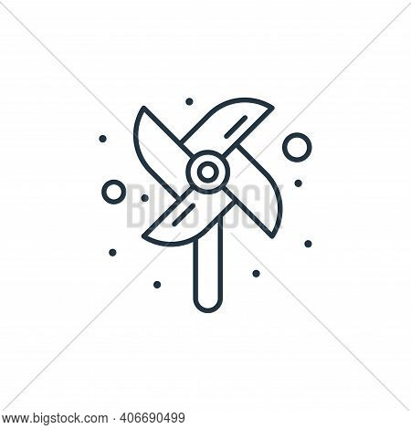 windmill icon isolated on white background from brazilian carnival collection. windmill icon thin li