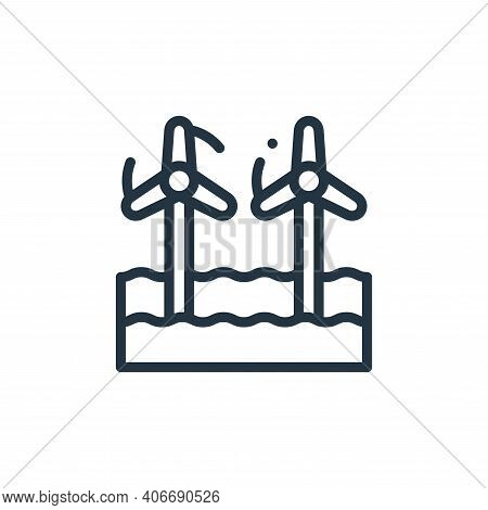 wind farm icon isolated on white background from holland collection. wind farm icon thin line outlin