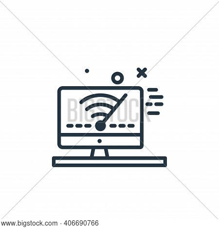 wifi signal icon isolated on white background from work from home collection. wifi signal icon thin