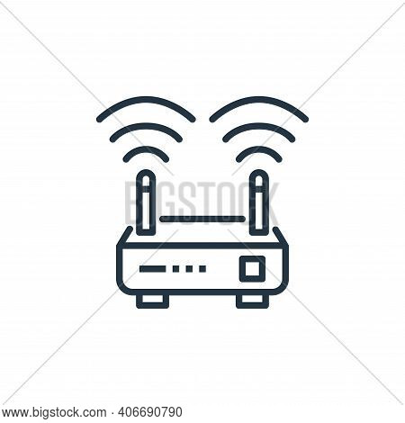 wifi router icon isolated on white background from work from home collection. wifi router icon thin