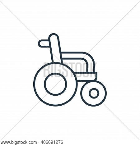 wheelchair icon isolated on white background from retirement collection. wheelchair icon thin line o
