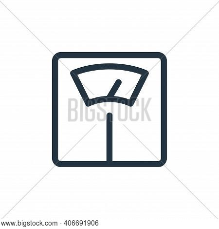 weight scale icon isolated on white background from electronics collection. weight scale icon thin l