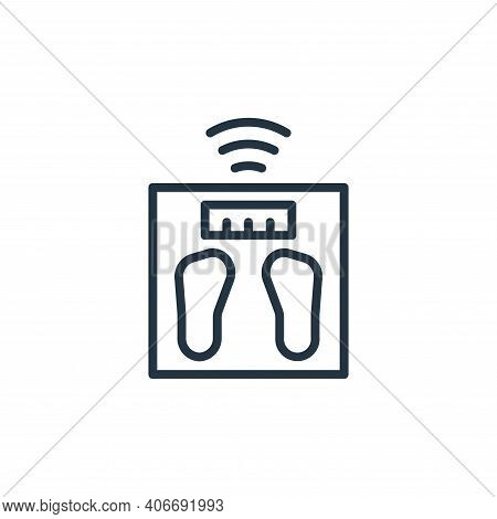 weighing scale icon isolated on white background from internet of things collection. weighing scale