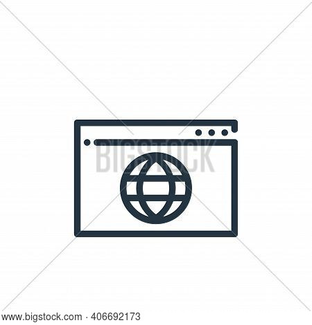 website icon isolated on white background from ricon collection. website icon thin line outline line