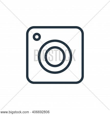 webcam icon isolated on white background from photography collection. webcam icon thin line outline