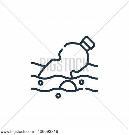 water pollution icon isolated on white background from climate change collection. water pollution ic