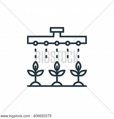 watering plants icon isolated on white background from smart farm collection. watering plants icon t