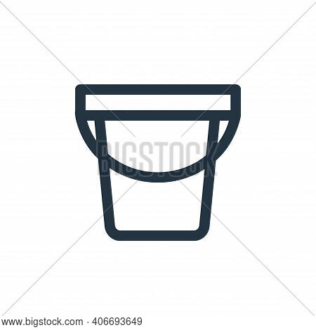 water bucket icon isolated on white background from landscaping equipment collection. water bucket i
