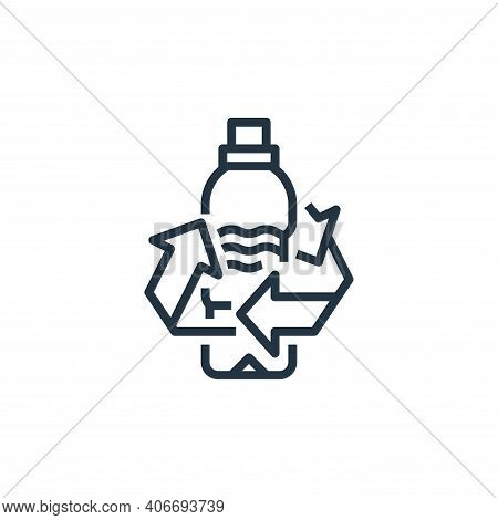 water bottle icon isolated on white background from recycling collection. water bottle icon thin lin