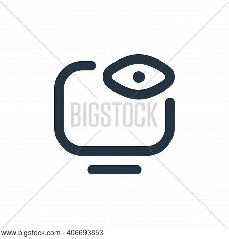 watch tv icon isolated on white background from stay at home collection. watch tv icon thin line out