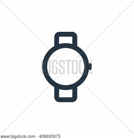 watch icon isolated on white background from electronic and device collection. watch icon thin line