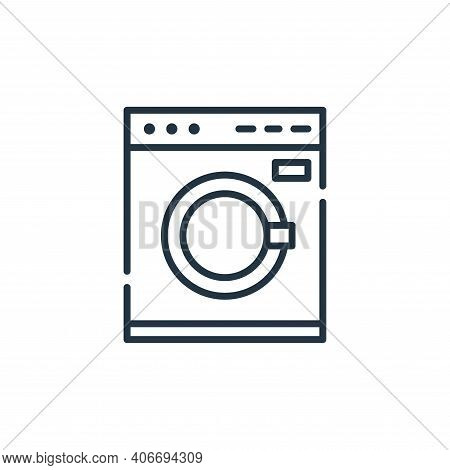 washing machine icon isolated on white background from cleaning collection. washing machine icon thi