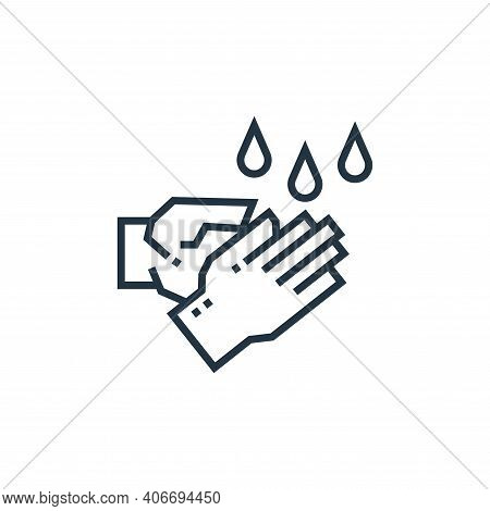 washing hands icon isolated on white background from medical services collection. washing hands icon