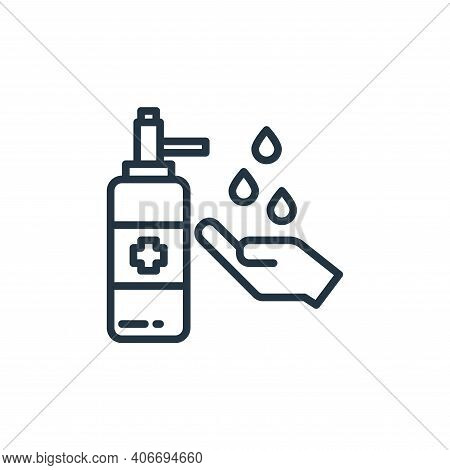 washing hand icon isolated on white background from virus collection. washing hand icon thin line ou