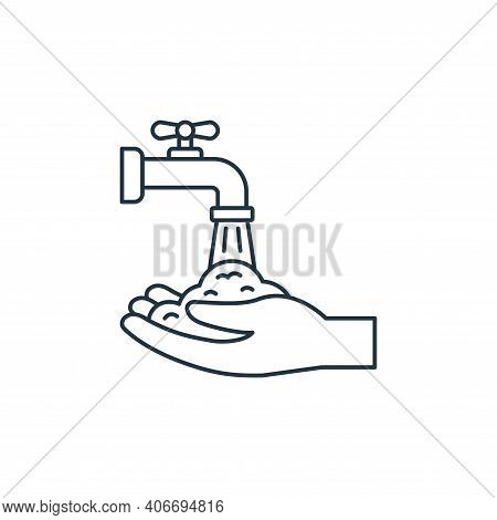 washing hand icon isolated on white background from coronavirus covid collection. washing hand icon