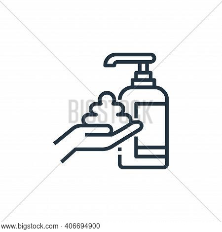 washing hand icon isolated on white background from wash hands collection. washing hand icon thin li