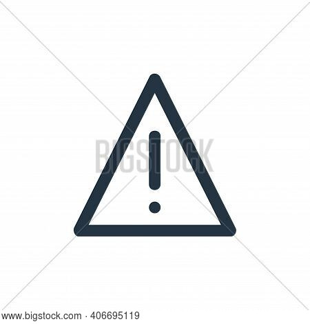 warning sign icon isolated on white background from user interface collection. warning sign icon thi