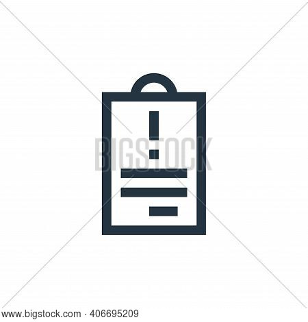 warning icon isolated on white background from feedback and testimonials collection. warning icon th
