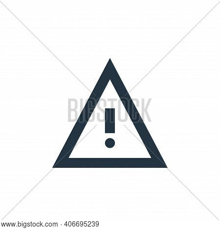 warning icon isolated on white background from user interface collection. warning icon thin line out