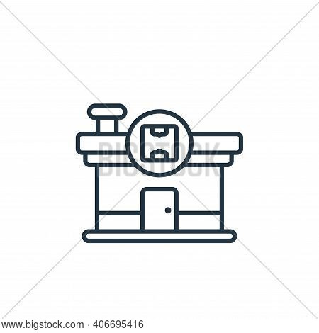 warehouse icon isolated on white background from shipping and delivery collection. warehouse icon th