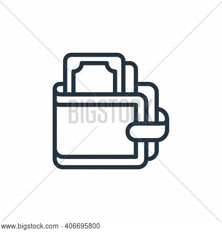 wallet icon isolated on white background from money collection. wallet icon thin line outline linear