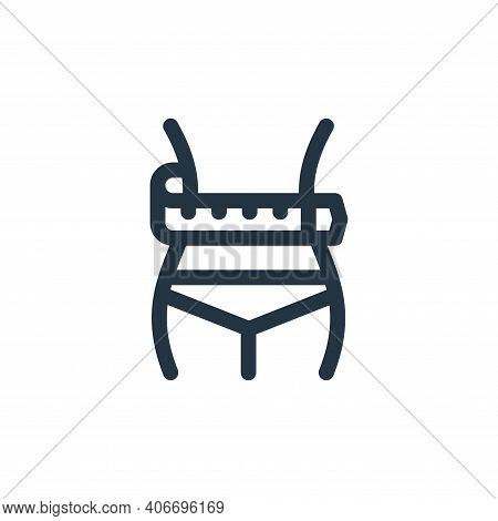 waist icon isolated on white background from health collection. waist icon thin line outline linear