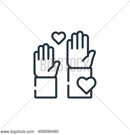 volunteer icon isolated on white background from kindness collection. volunteer icon thin line outli