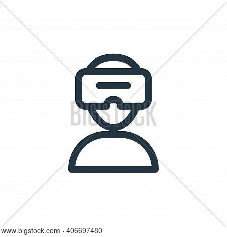 virtual reality glasses icon isolated on white background from virtual reality collection. virtual r