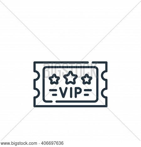 vip icon isolated on white background from fame collection. vip icon thin line outline linear vip sy
