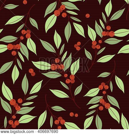 Forest Berry, Wild Berry, Packaging, Twig, Branch, Garden, Spring, Flora, Floral, Texture, Textile,