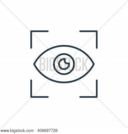 view icon isolated on white background from casino collection. view icon thin line outline linear vi