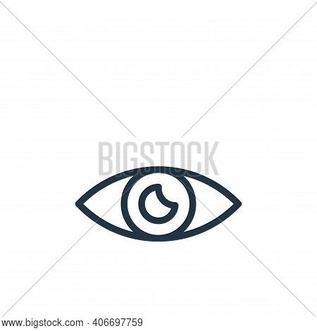 view icon isolated on white background from photography collection. view icon thin line outline line