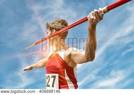 Portrait of Male Javelin Thrower