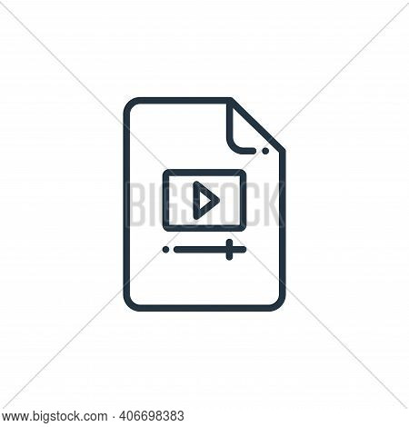 video file icon isolated on white background from online learning collection. video file icon thin l