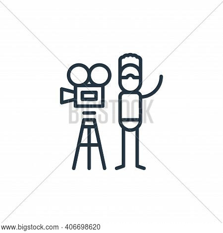 video camera icon isolated on white background from general arts collection. video camera icon thin