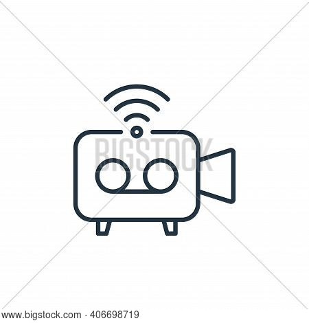 video camera icon isolated on white background from internet of things collection. video camera icon