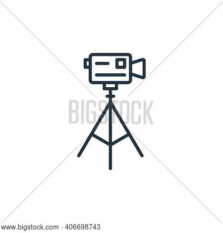 video camera icon isolated on white background from cinema collection. video camera icon thin line o