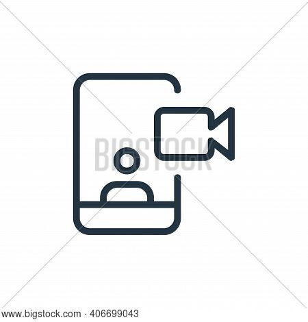 video call icon isolated on white background from work office and meeting collection. video call ico