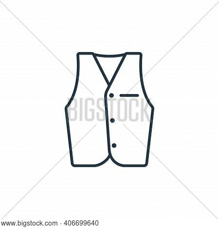 vest icon isolated on white background from clothes and outfit collection. vest icon thin line outli