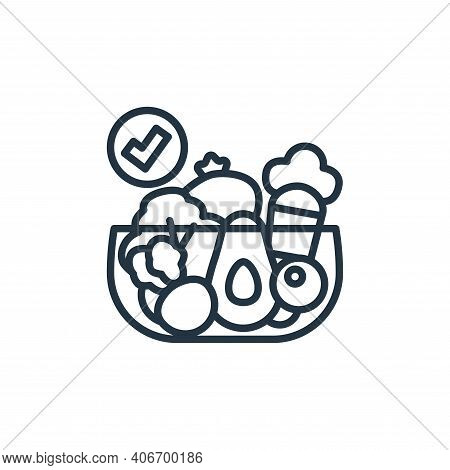 vegetables icon isolated on white background from virus transmission collection. vegetables icon thi