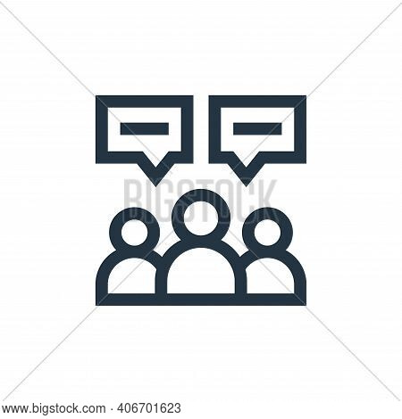users icon isolated on white background from advertisement collection. users icon thin line outline