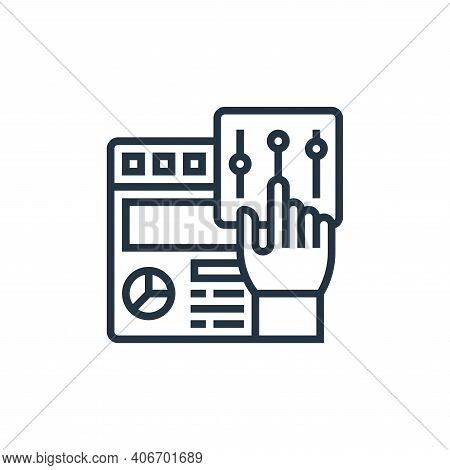 user interface icon isolated on white background from digital transformation collection. user interf