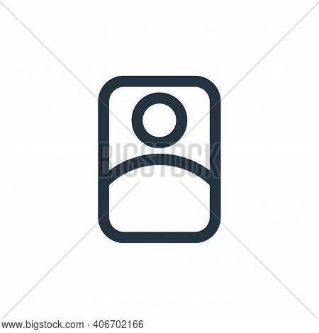 user icon isolated on white background from interface collection. user icon thin line outline linear