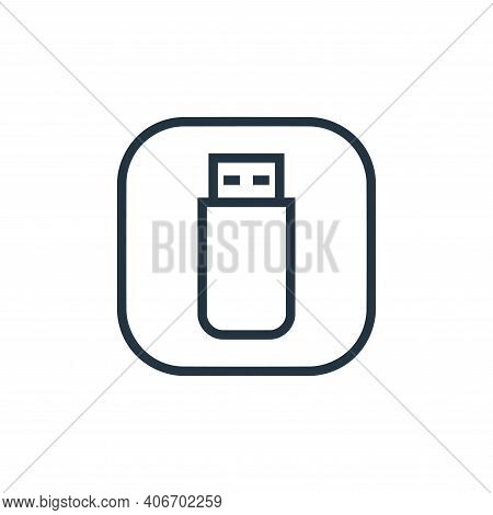 usb drive icon isolated on white background from hardware and gadgets collection. usb drive icon thi