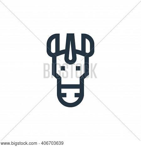 unicorn icon isolated on white background from fantastic characters collection. unicorn icon thin li