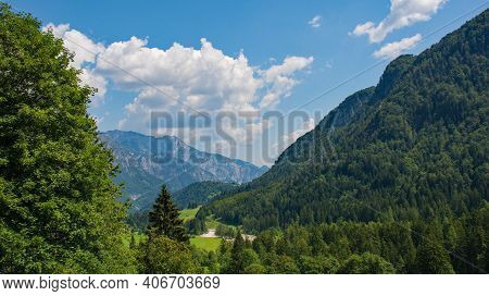 The Summer Landscape Near Aupa In Udine Province, Friuli-venezia Giulia, North East Italy